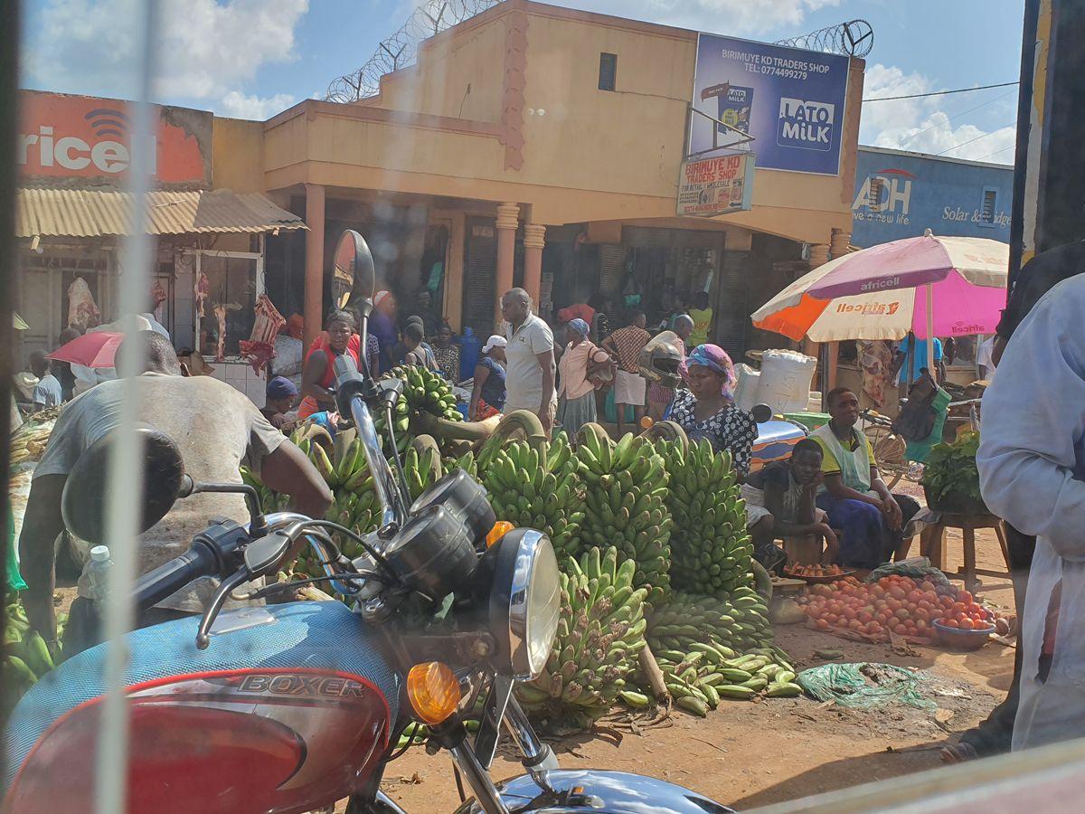 שוק מקומי באוגנדה