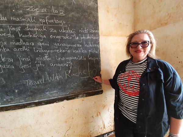 רחל לוי בהתנדבות באפריקה